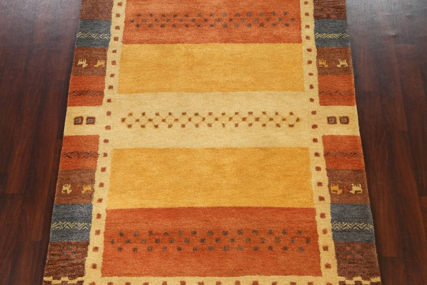 Hand-Tufted Tribal Gabbeh Area Rug 6x8 image 3