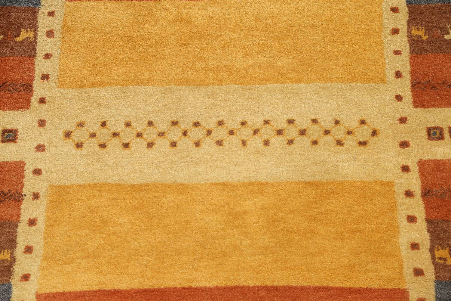 Hand-Tufted Tribal Gabbeh Area Rug 6x8 image 4
