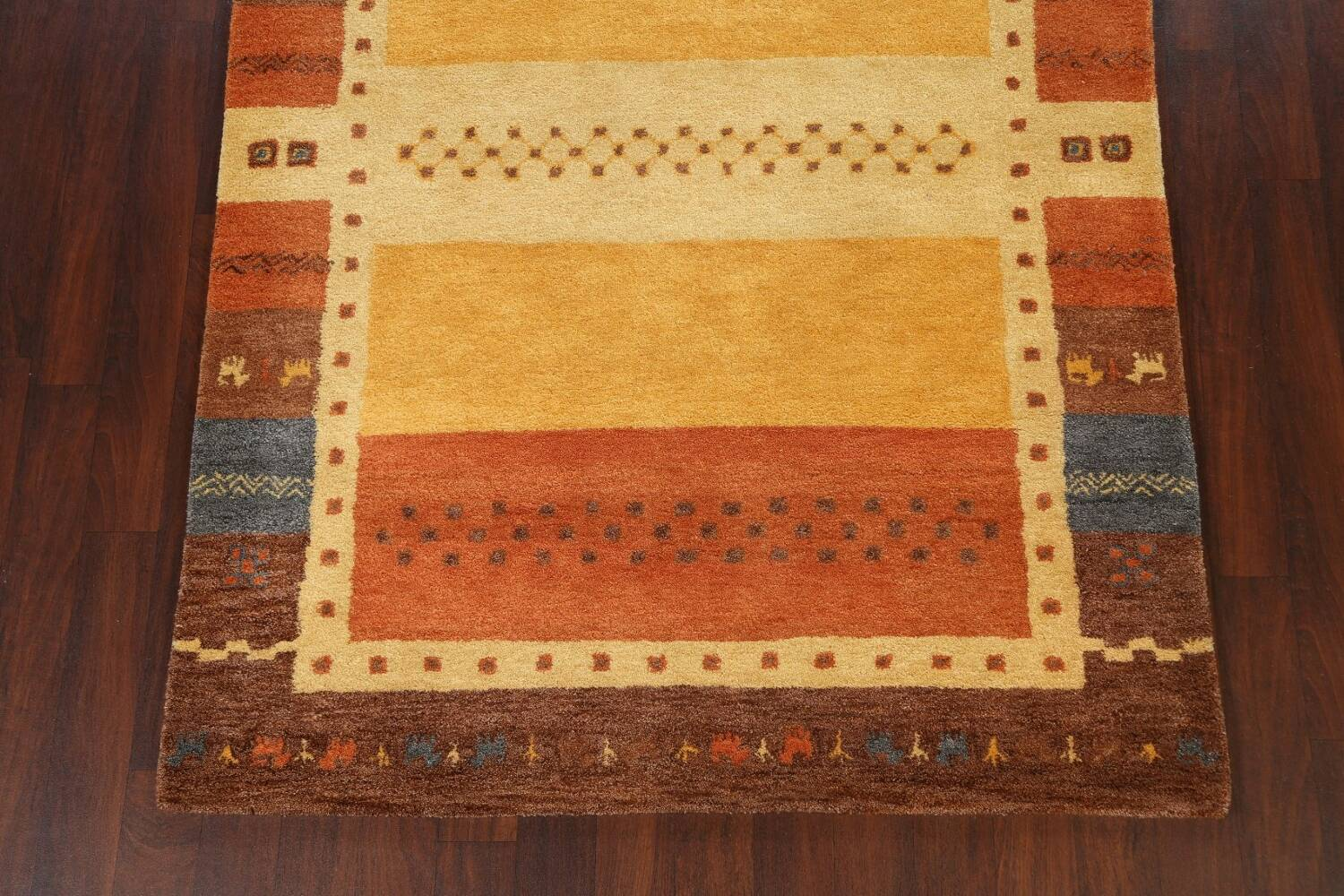 Hand-Tufted Tribal Gabbeh Area Rug 6x8 image 5