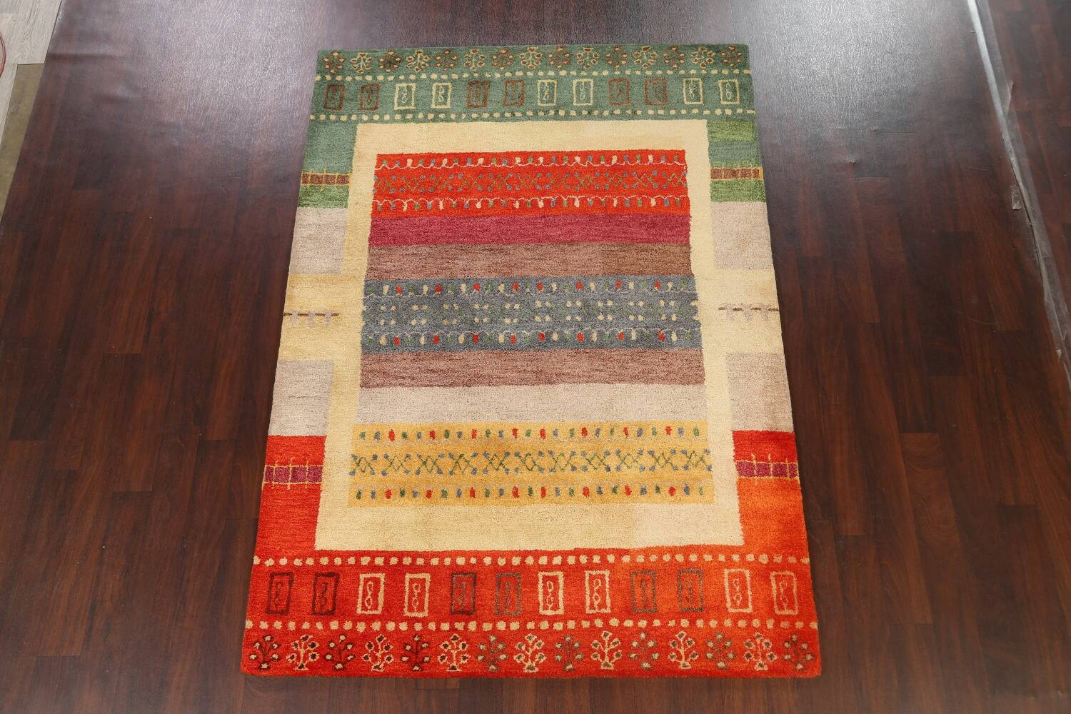 Hand-Tufted Tribal Area Rug 6x8 image 2