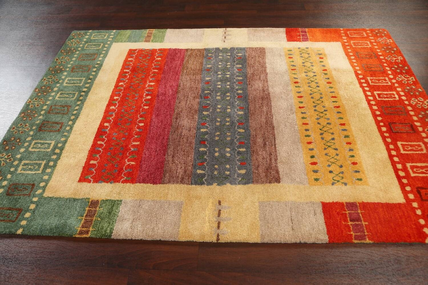 Hand-Tufted Tribal Area Rug 6x8 image 12