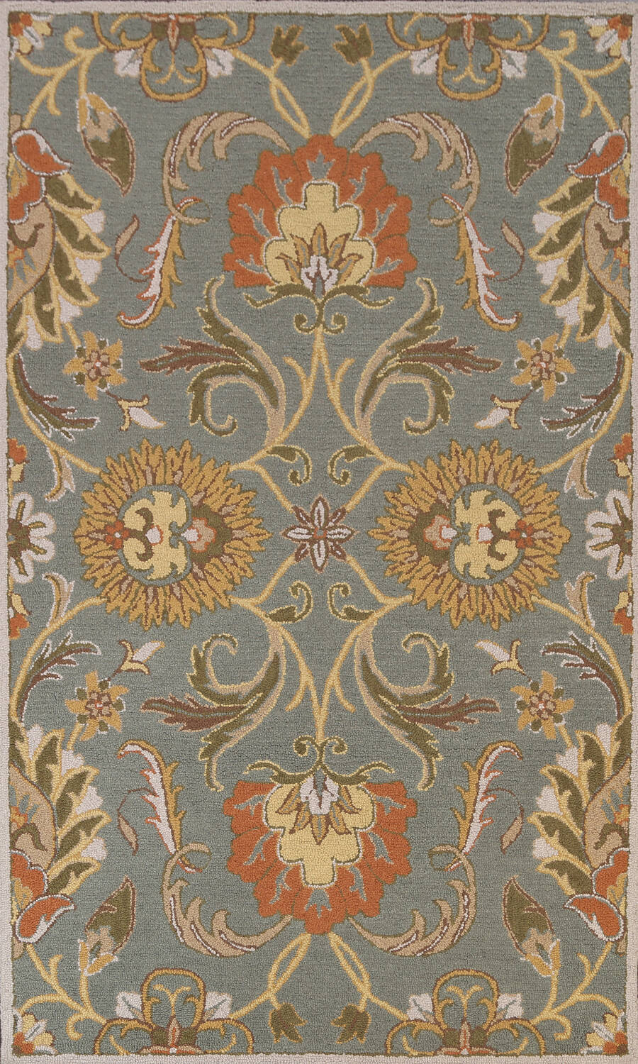 Hand-Tufted Floral Agra Area Rug 5x8 image 1