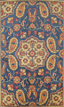Hand-Tufted Floral Area Rug 5x8 image 1