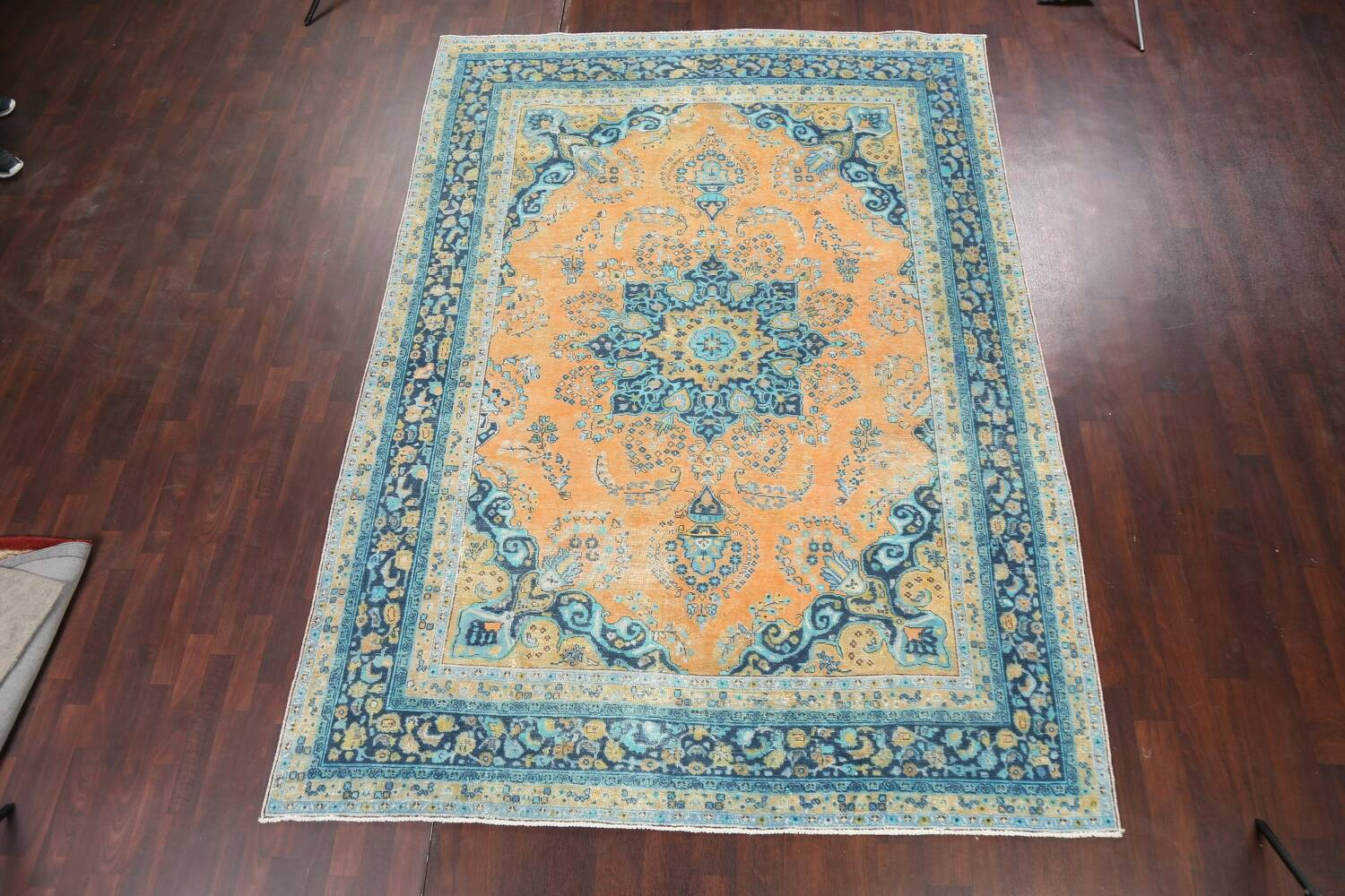 Floral Mashad Persian Area Rug 8x11 image 2