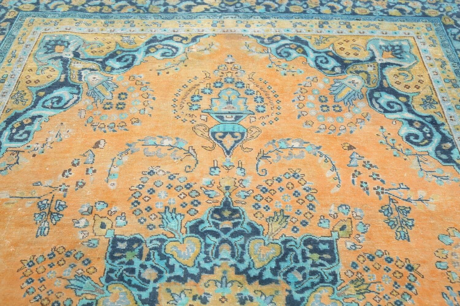 Floral Mashad Persian Area Rug 8x11 image 11