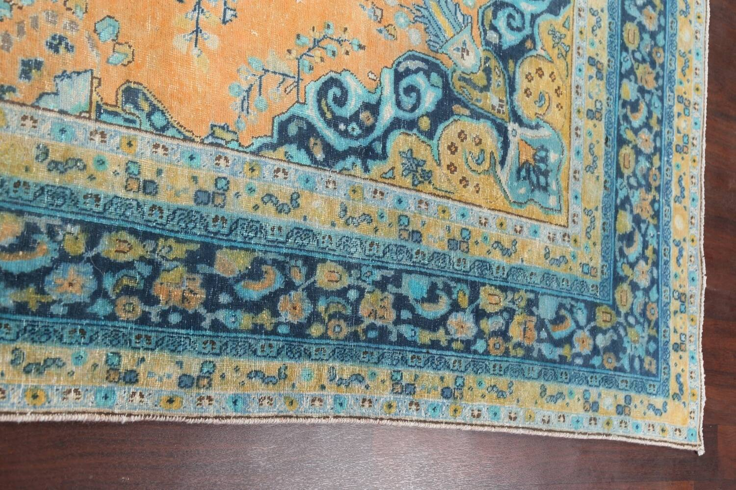 Floral Mashad Persian Area Rug 8x11 image 13