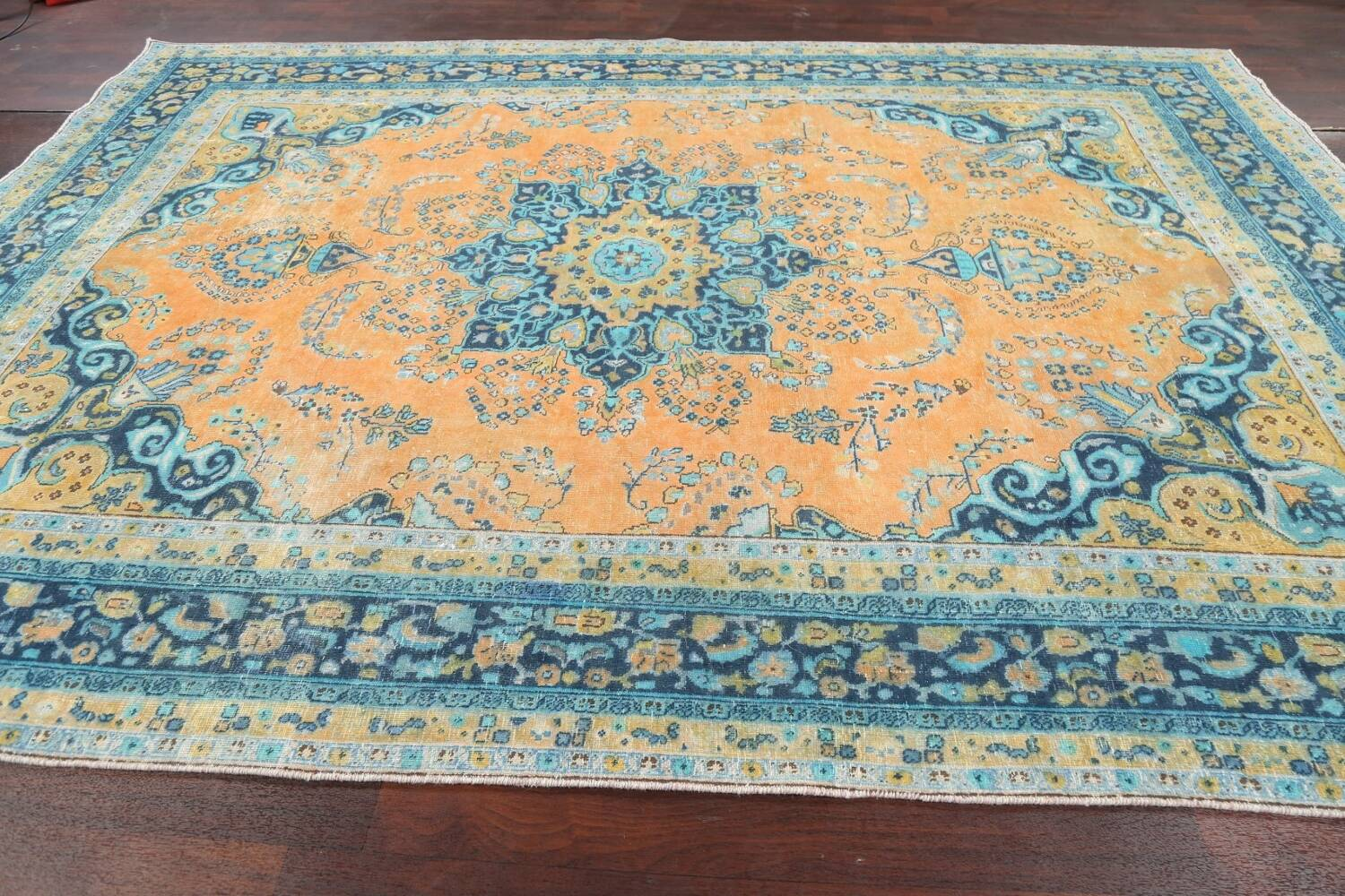 Floral Mashad Persian Area Rug 8x11 image 14