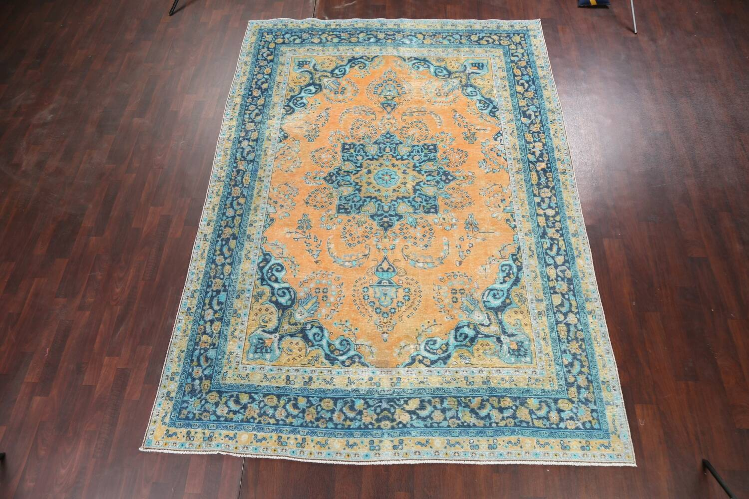 Floral Mashad Persian Area Rug 8x11 image 15