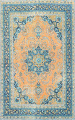 Floral Mashad Persian Area Rug 8x11 image 1