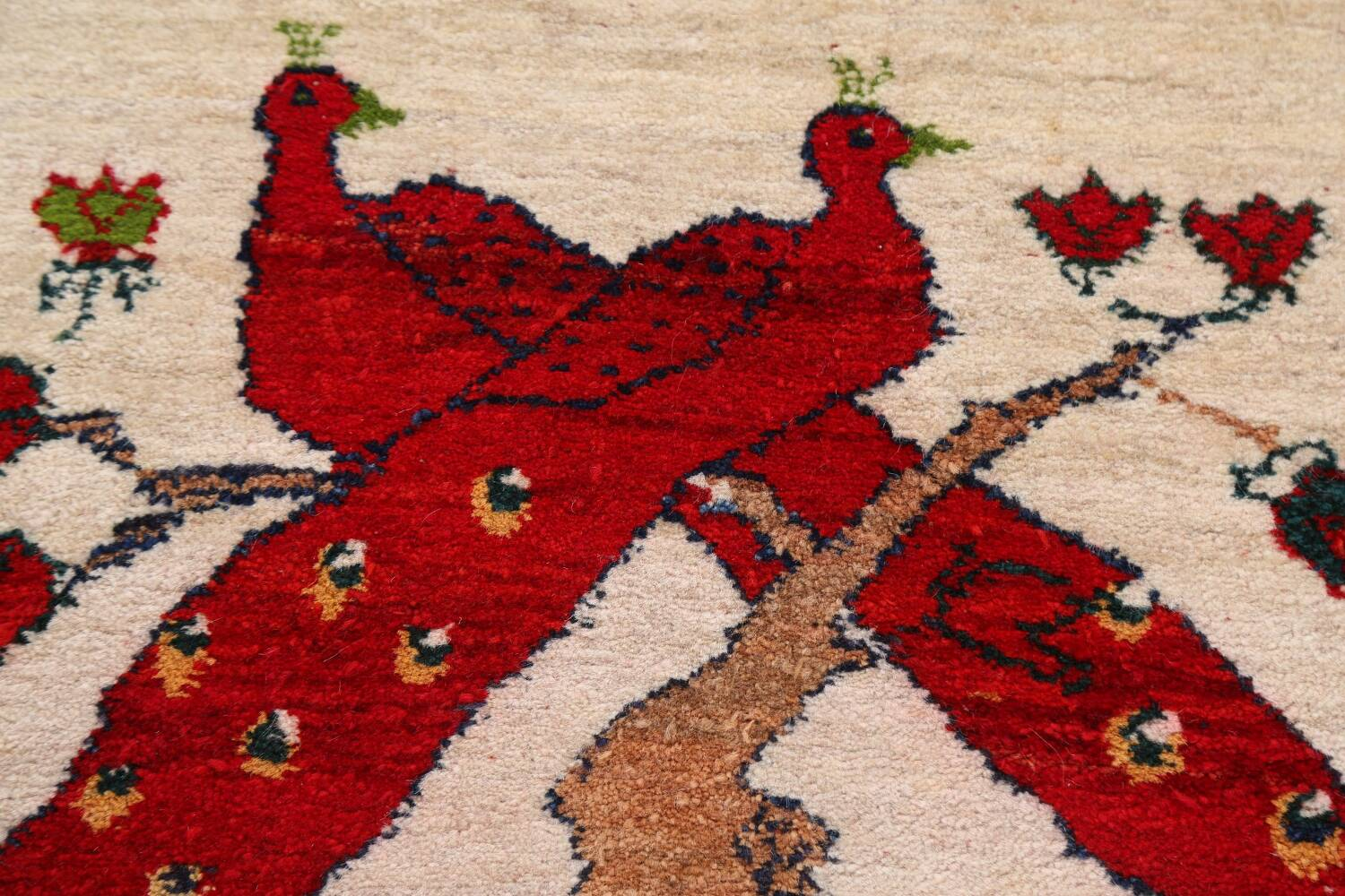 Animal Pictorial Gabbeh Persian Area Rug 2x2 image 6