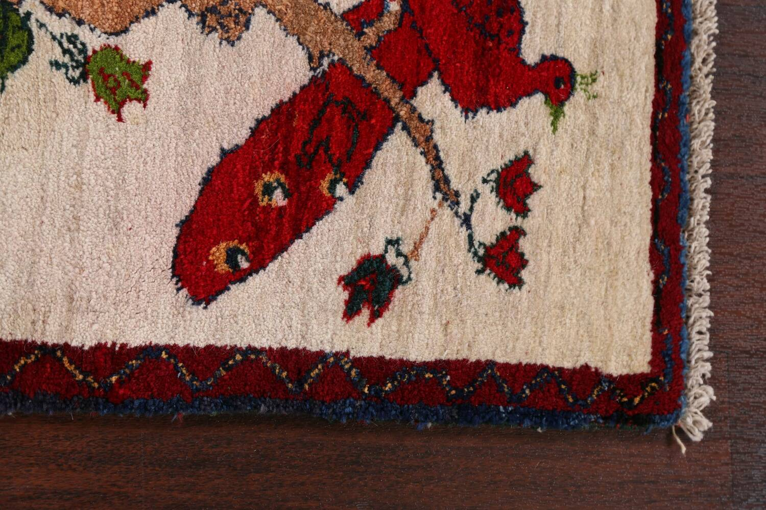 Animal Pictorial Gabbeh Persian Area Rug 2x2 image 7