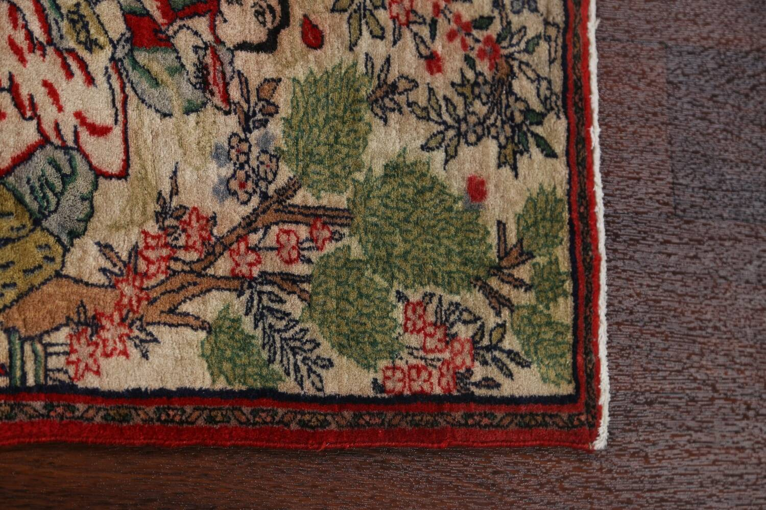 Pictorial Square Kashmar Persian Area Rug 2x2 image 10