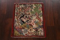Pictorial Square Kashmar Persian Area Rug 2x2 image 2