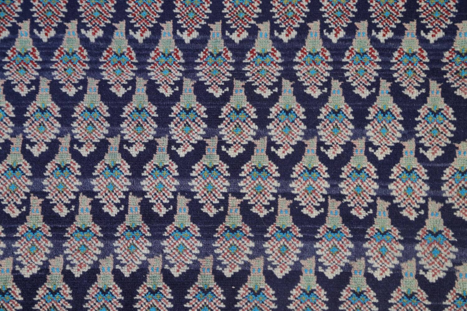 All-Over Navy Blue Tabriz Persian Area Rug 2x3 image 4