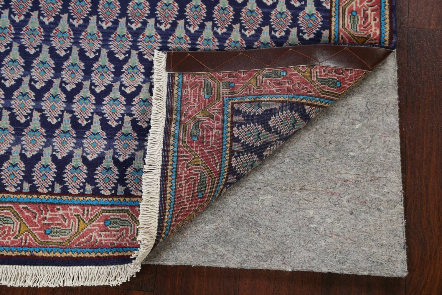 All-Over Navy Blue Tabriz Persian Area Rug 2x3 image 7