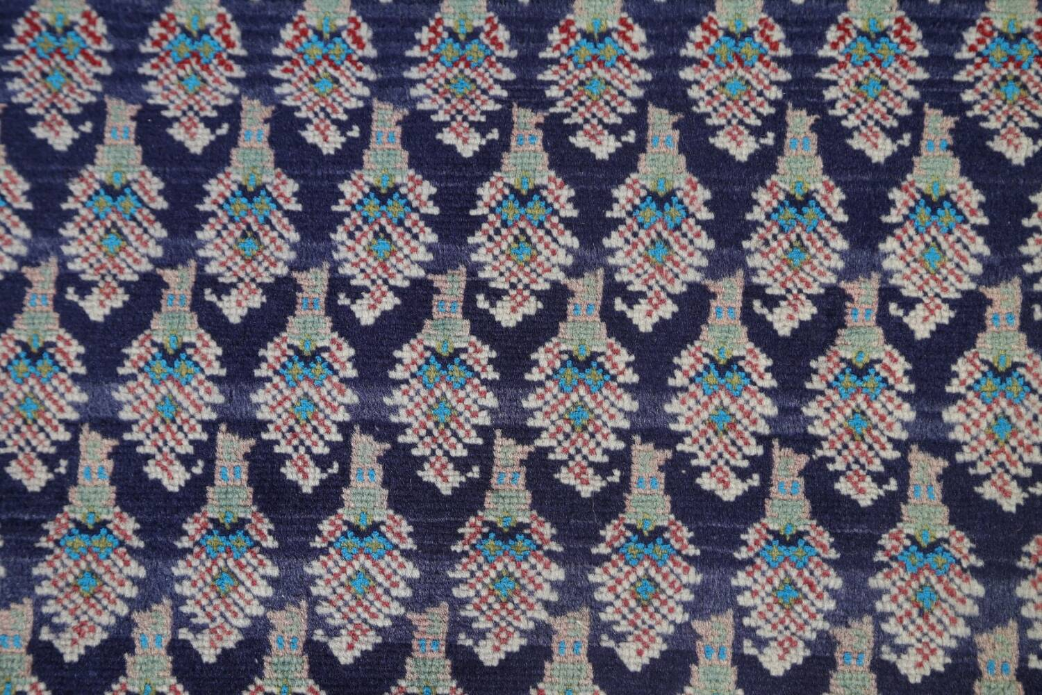 All-Over Navy Blue Tabriz Persian Area Rug 2x3 image 8