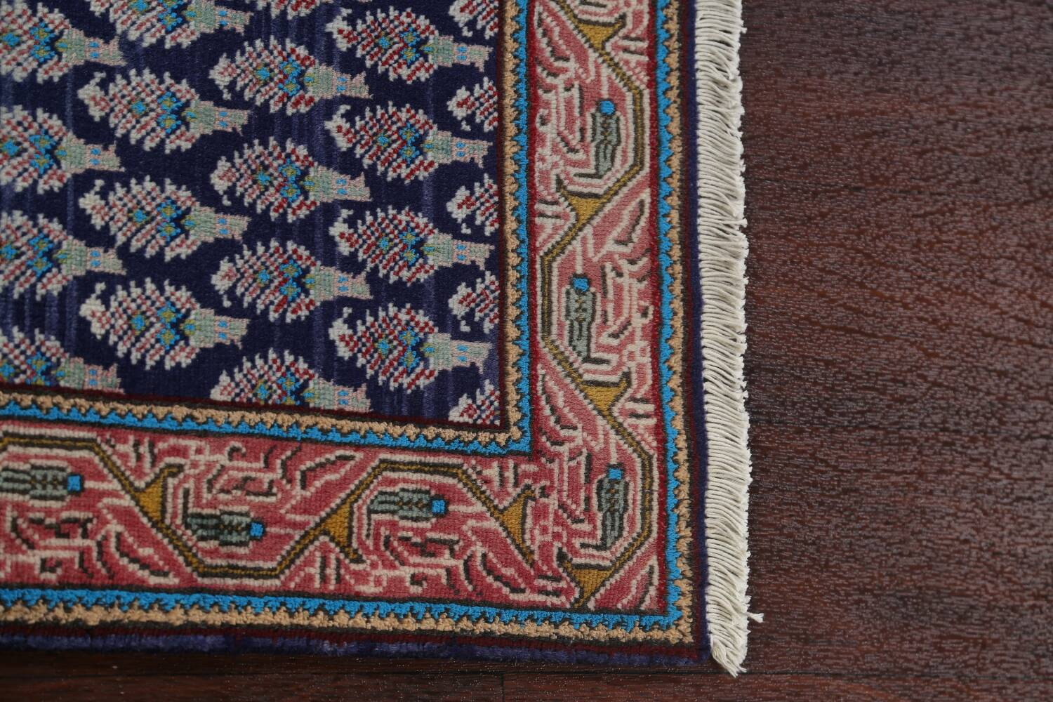 All-Over Navy Blue Tabriz Persian Area Rug 2x3 image 10