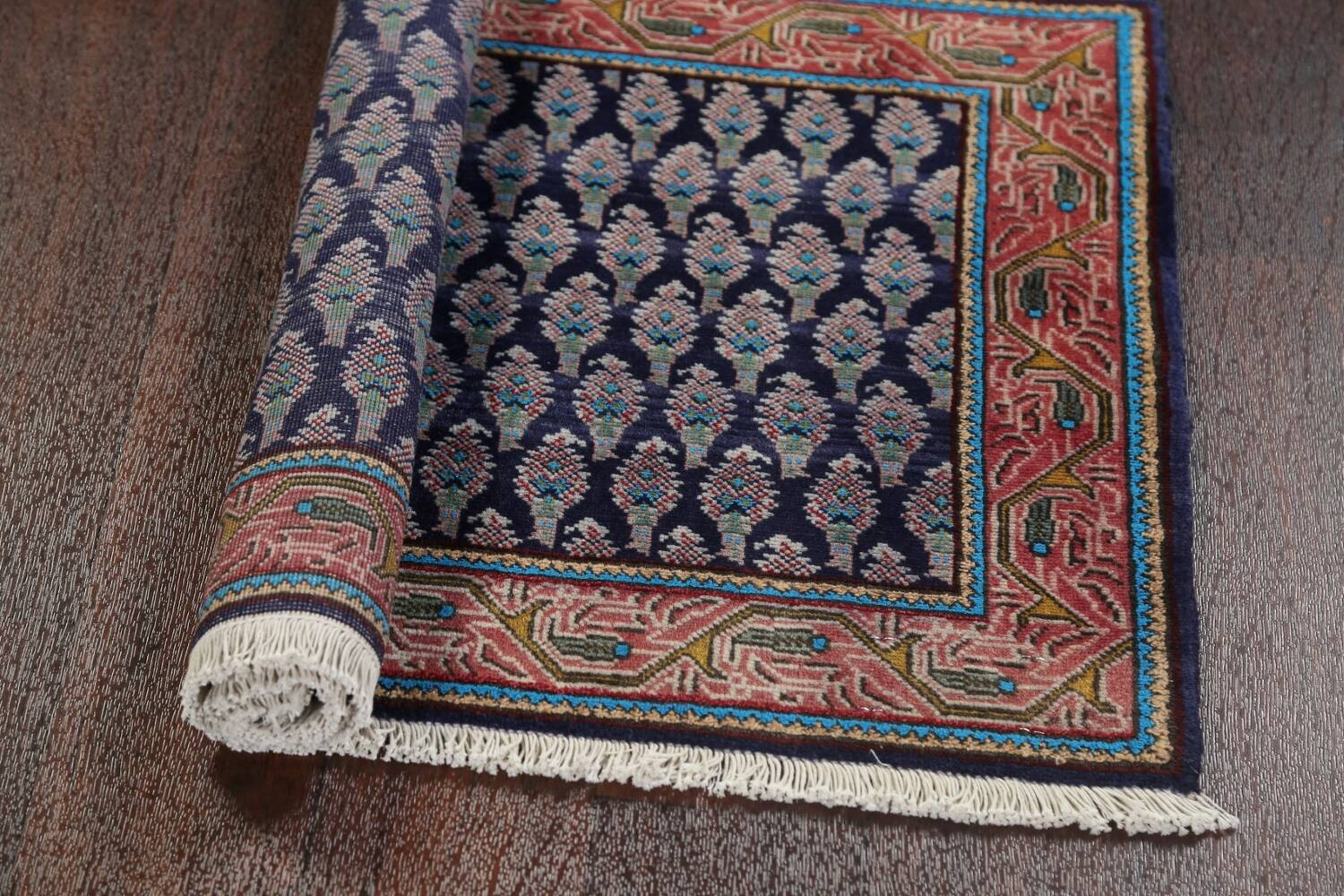 All-Over Navy Blue Tabriz Persian Area Rug 2x3 image 13