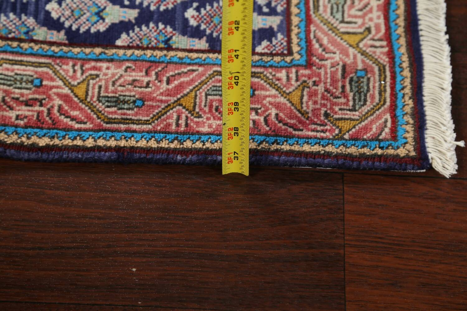All-Over Navy Blue Tabriz Persian Area Rug 2x3 image 15