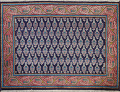 All-Over Navy Blue Tabriz Persian Area Rug 2x3 image 1