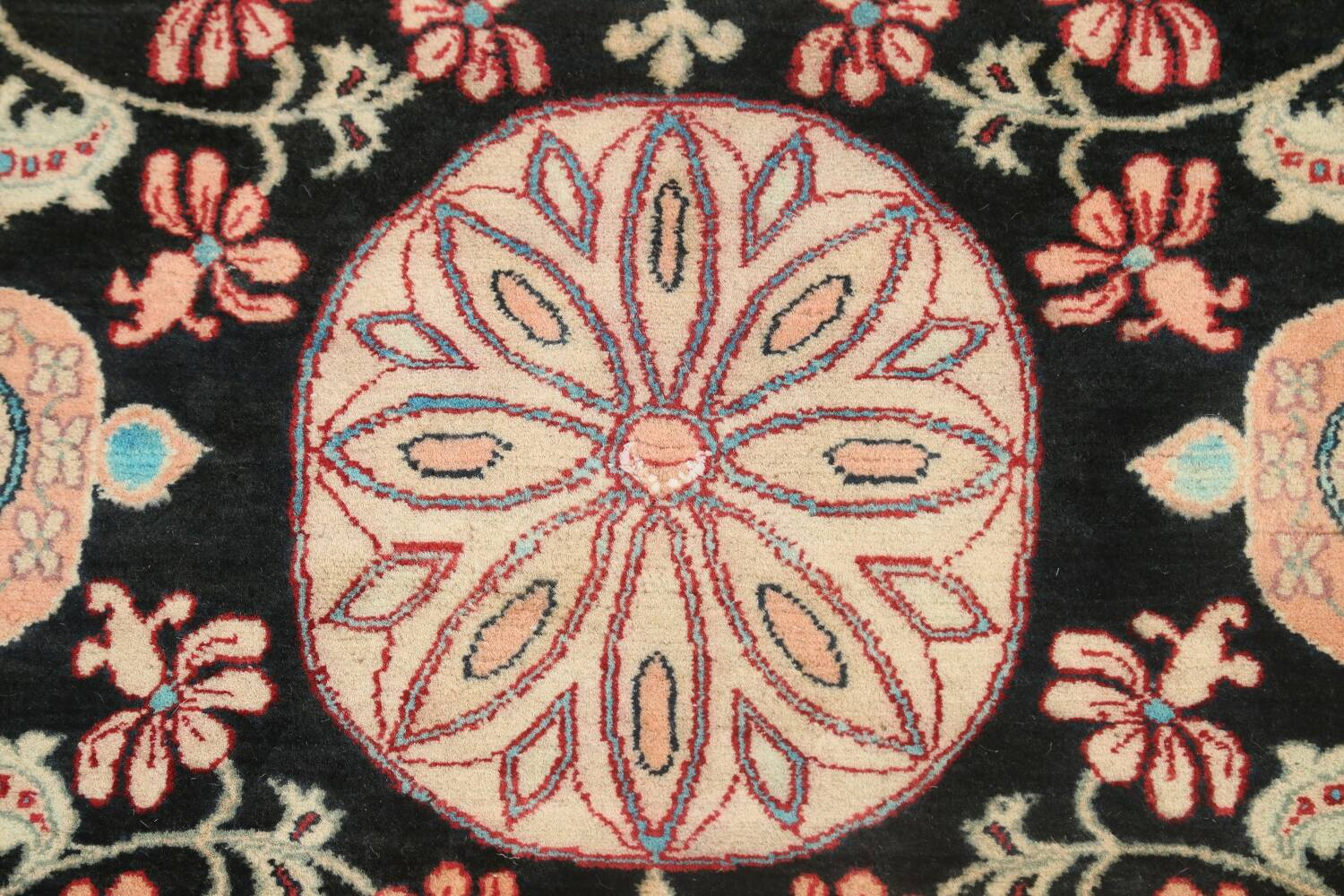 Vegetable Dye Floral Tabriz Oriental Area Rug 4x6 image 8