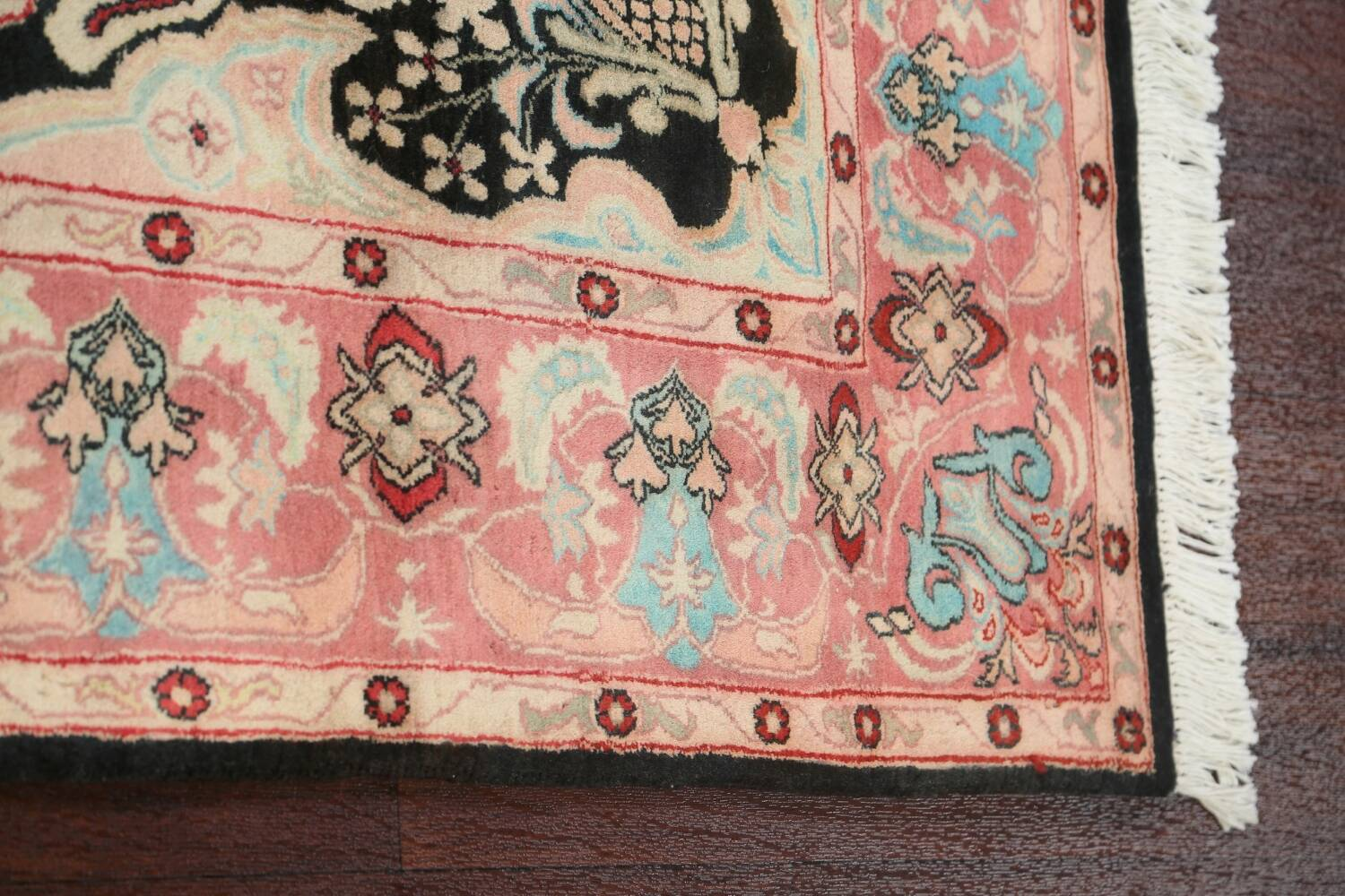 Vegetable Dye Floral Tabriz Oriental Area Rug 4x6 image 10