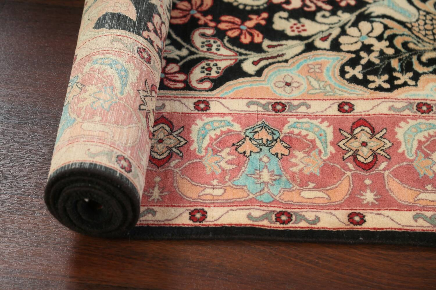 Vegetable Dye Floral Tabriz Oriental Area Rug 4x6 image 14