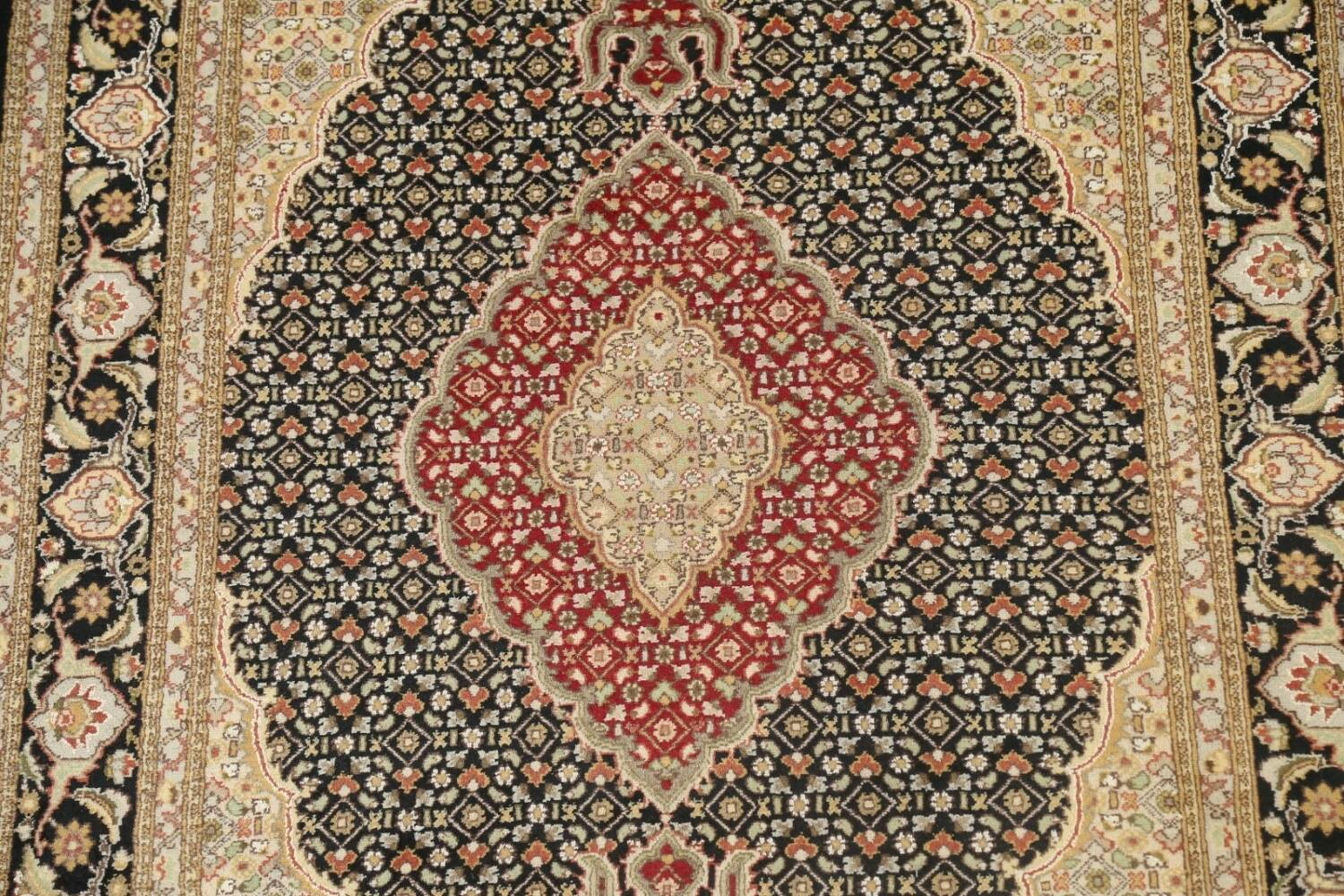 Vegetable Dye Geometric Tabriz Mahi Oriental Area Rug 4x7 image 4