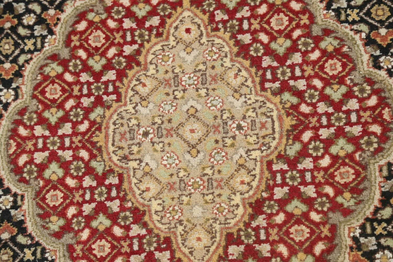 Vegetable Dye Geometric Tabriz Mahi Oriental Area Rug 4x7 image 8