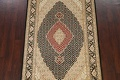 Vegetable Dye Geometric Tabriz Mahi Oriental Area Rug 4x7 image 3