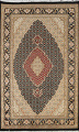 Vegetable Dye Geometric Tabriz Mahi Oriental Area Rug 4x7 image 1