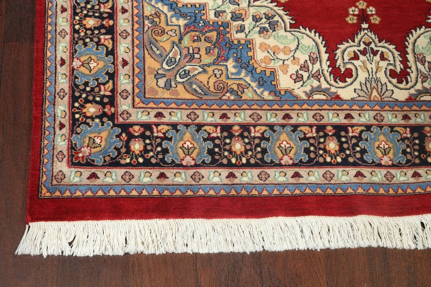 100% Vegetable Dye Red Tabriz Oriental Area Rug 5x7 image 6