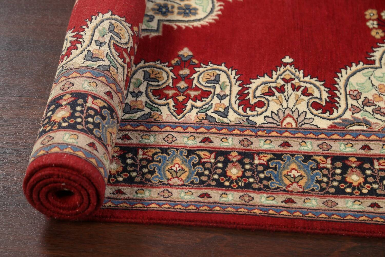 100% Vegetable Dye Red Tabriz Oriental Area Rug 5x7 image 14