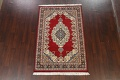 100% Vegetable Dye Red Tabriz Oriental Area Rug 5x7 image 2
