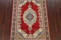 100% Vegetable Dye Red Tabriz Oriental Area Rug 5x7 image 3