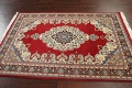 100% Vegetable Dye Red Tabriz Oriental Area Rug 5x7 image 12