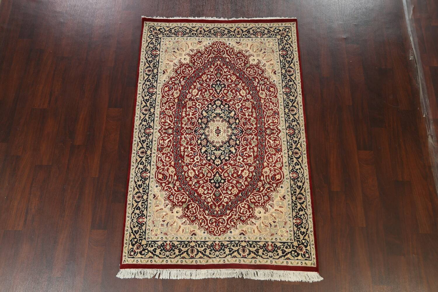Vegetable Dye Floral Tabriz Oriental Area Rug 5x7 image 2