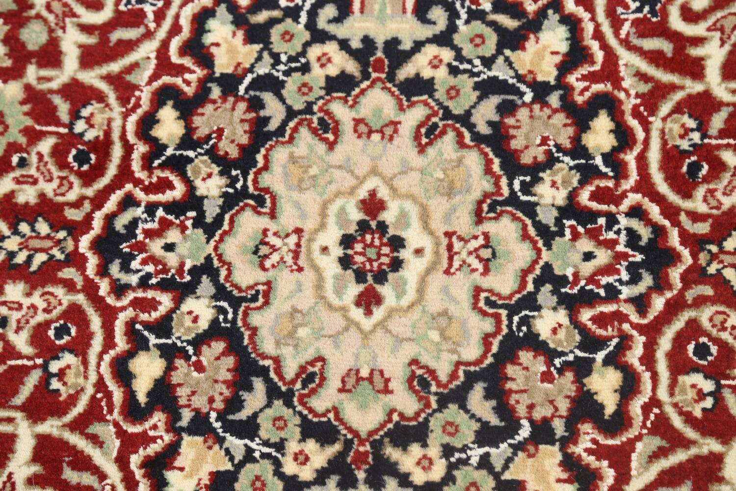 Vegetable Dye Floral Tabriz Oriental Area Rug 5x7 image 8
