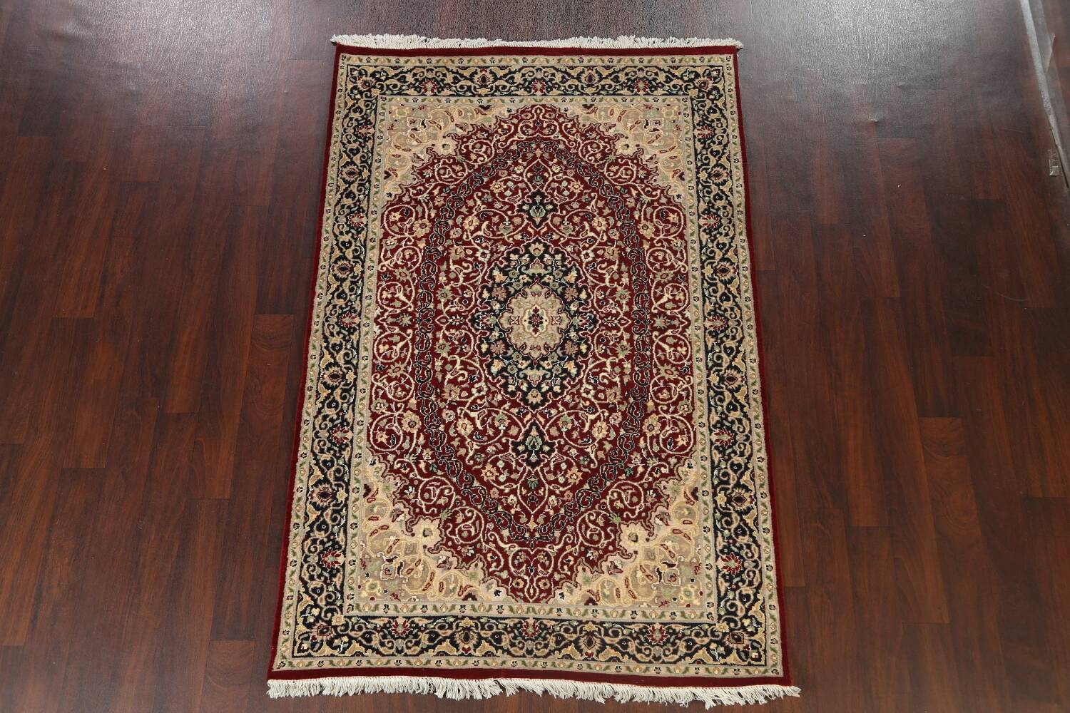 Vegetable Dye Floral Tabriz Oriental Area Rug 5x7 image 13