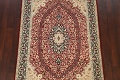 Vegetable Dye Floral Tabriz Oriental Area Rug 5x7 image 3