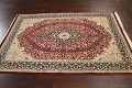Vegetable Dye Floral Tabriz Oriental Area Rug 5x7 image 12