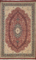 Vegetable Dye Floral Tabriz Oriental Area Rug 5x7 image 1
