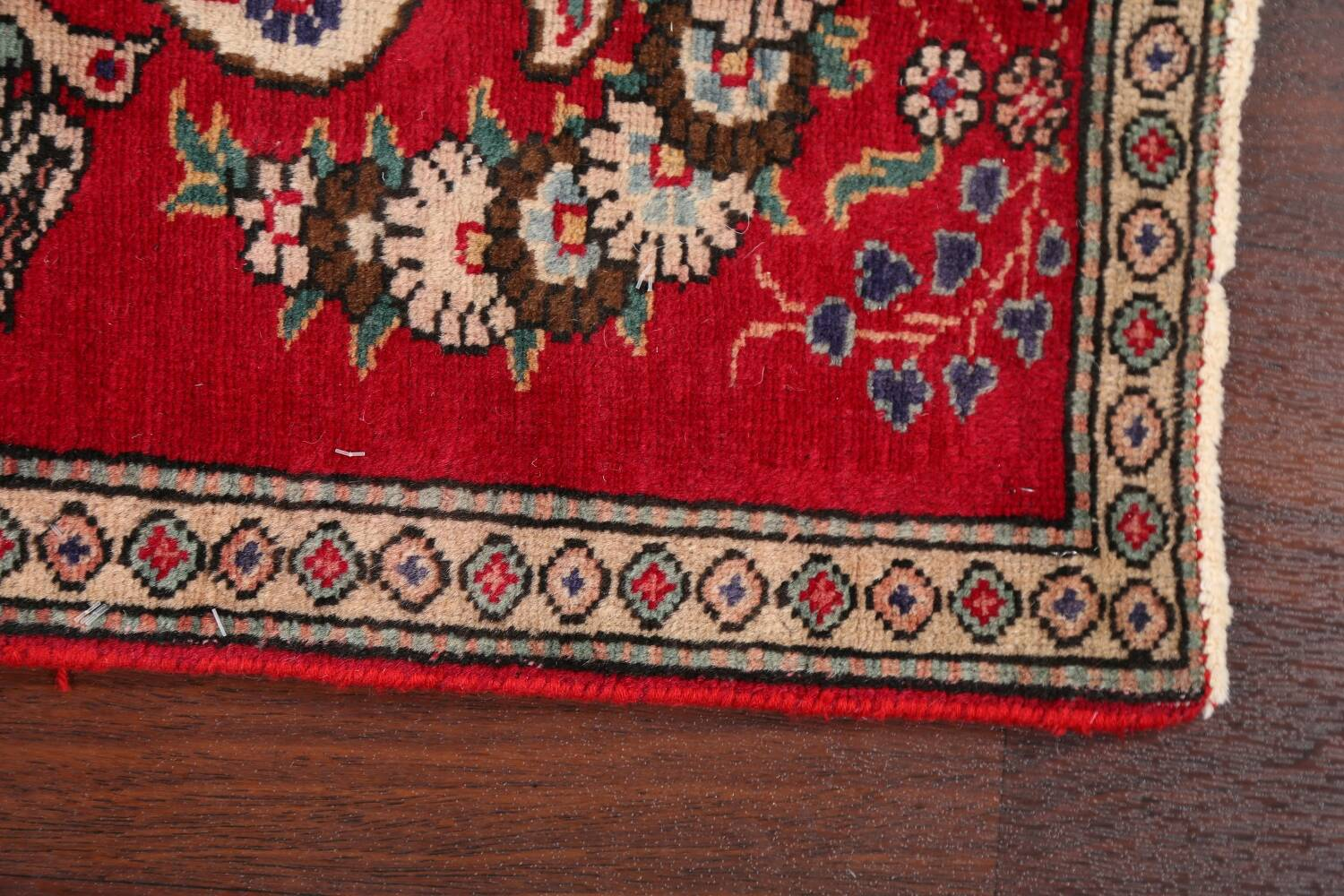 Animal Pictorial Red Tabriz Persian Area Rug 2x2 image 9