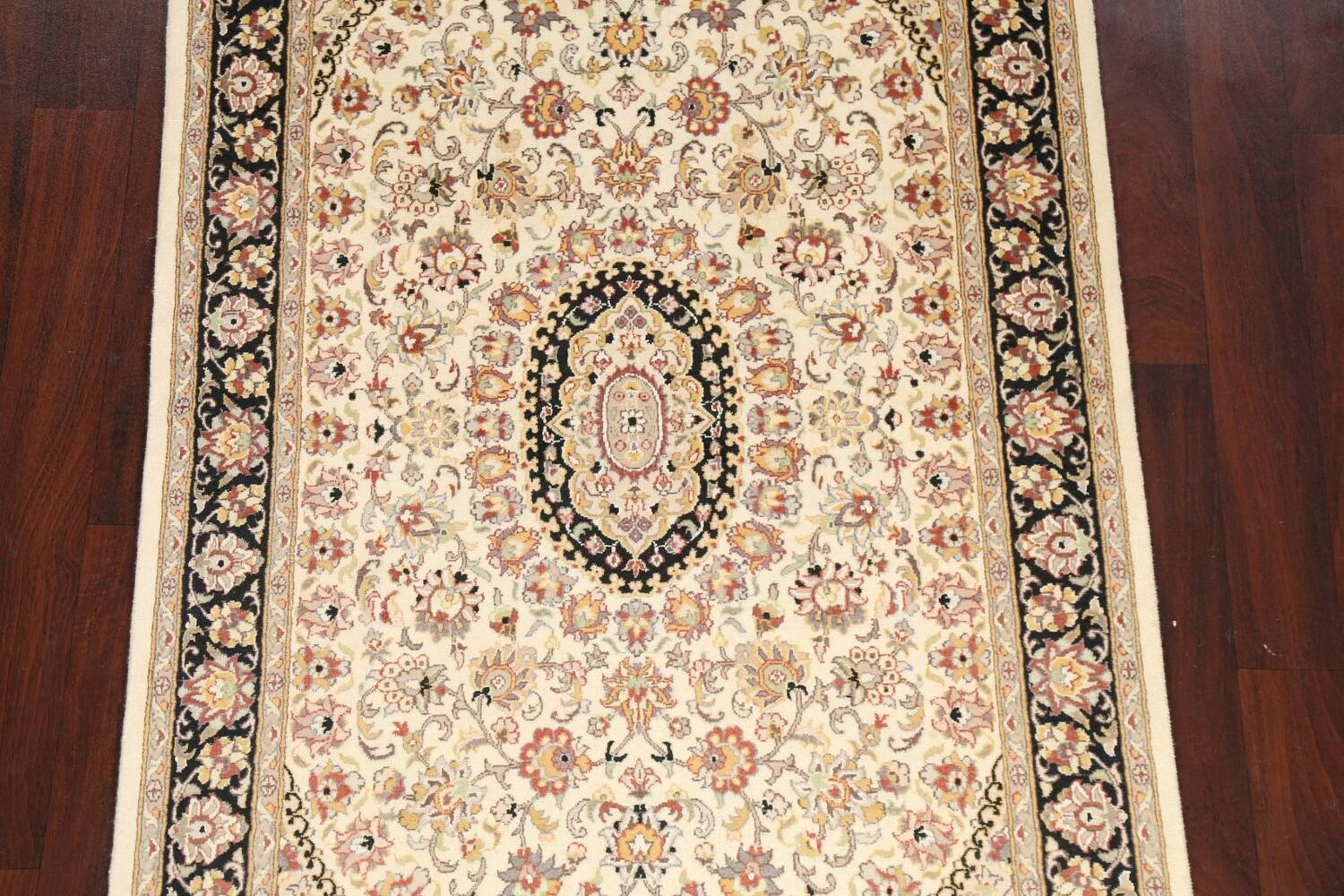 Vegetable Dye Floral Tabriz Oriental Area Rug 4x6 image 3