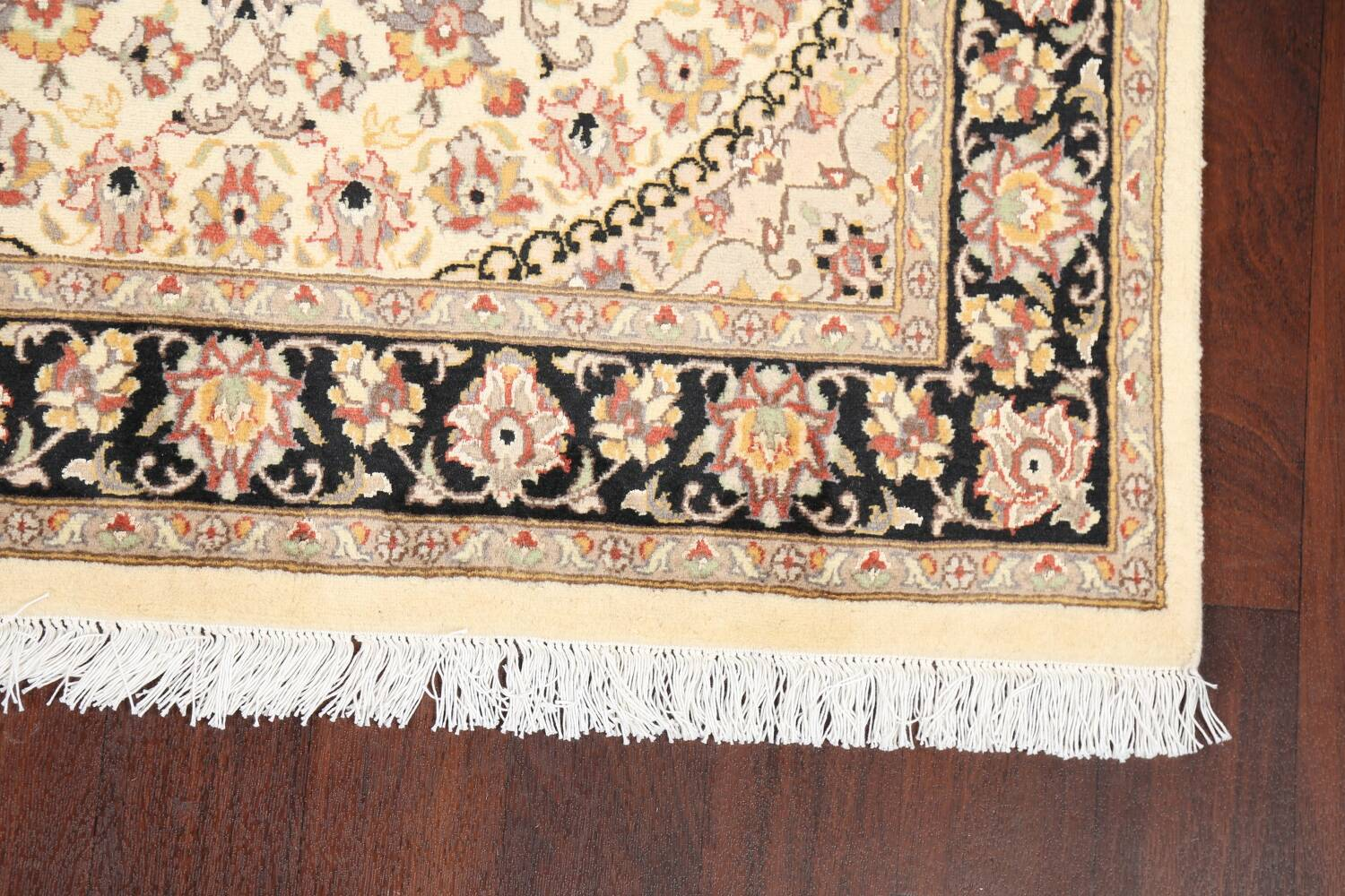 Vegetable Dye Floral Tabriz Oriental Area Rug 4x6 image 6
