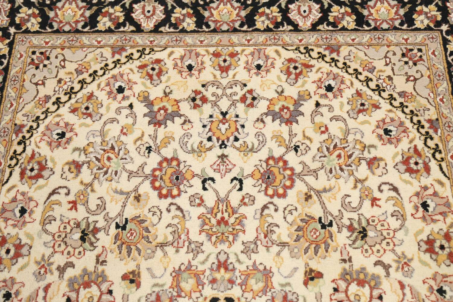 Vegetable Dye Floral Tabriz Oriental Area Rug 4x6 image 9