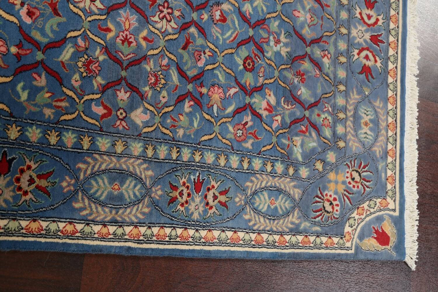 Vegetable Dye Floral Tabriz Oriental Area Rug 4x6 image 11