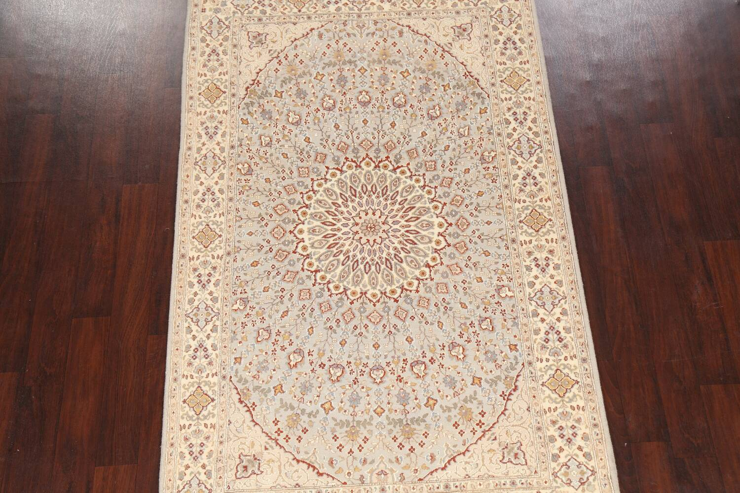 Vegetable Dye Geometric Tabriz Oriental Area Rug 5x7 image 3