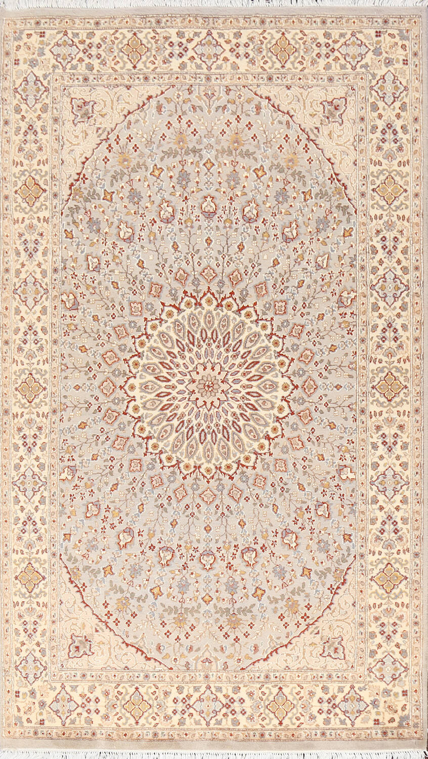 Vegetable Dye Geometric Tabriz Oriental Area Rug 5x7 image 1