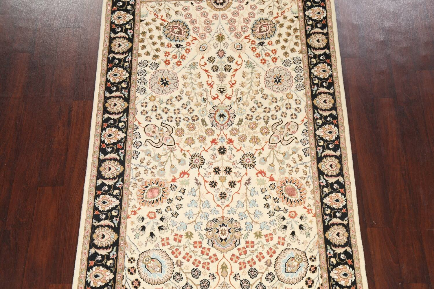 Vegetable Dye Floral Tabriz Oriental Area Rug 4x7 image 3